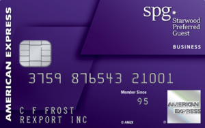 best credit cards for miles AMEX SPG Business Card
