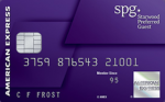 best credit cards for miles AMEX SPG Card