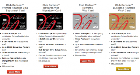 US Bank Club Carlson cards