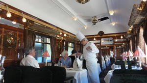 Another of the three restaurant cars
