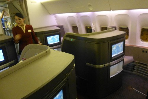 Cathay Pacific First Class Cabin 2