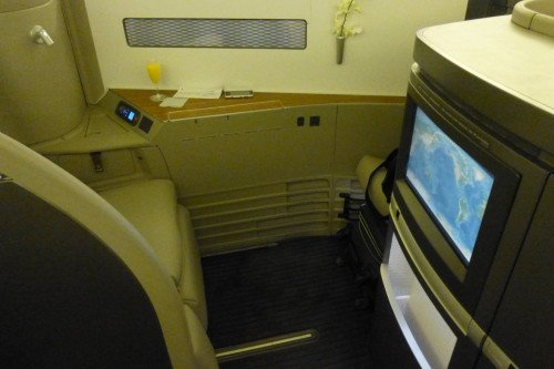 Cathay Pacific First Class Cabin-The Seat 3
