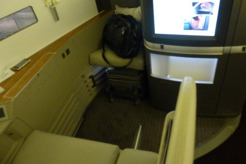 Cathay Pacific First Class Cabin-The Seat