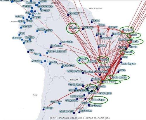TAM Brazil Map