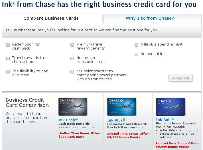 Credit cards round up new offers the lazy travelers handbook chase ink reheart Gallery