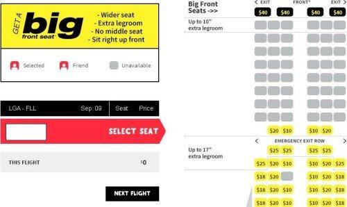 Spirit Seats LGA-FLL