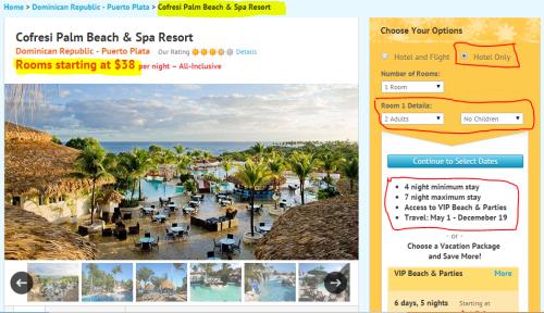 Cheap All Inclusive in Puerto Plata, Dominican Republic |Cofresi Palm Beach Section,