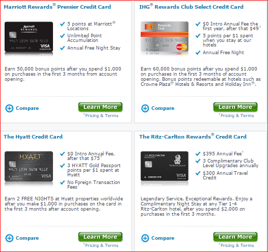 Chase Hotel Points Credit Cards   The Lazy Traveler's Handbook