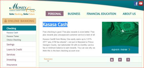 KASASA Checking 3.01%