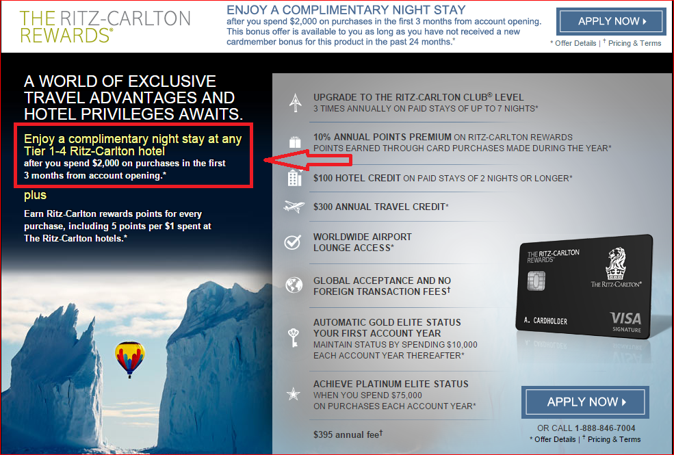 new chase ritz carlton offer come on - Achieve Card Rewards