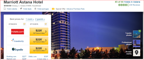 Marriott 2015 Changes: 4 to 3 -- Astana, Kazakhstan