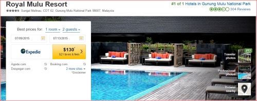 Marriott 2015 Changes: 3 to 2 -- Mulu, Malaysia