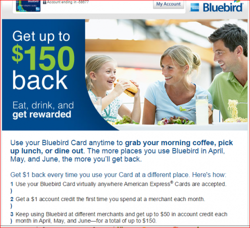 Miles, Points, Credit Cards --  BlueBird Offer