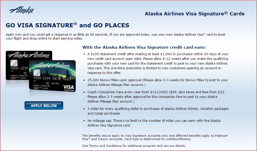 Boa Alaska Airlines 25000 Miles And 100 Credit Is Back