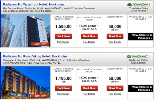 Club Carlson Stockholm Radisson Hotels