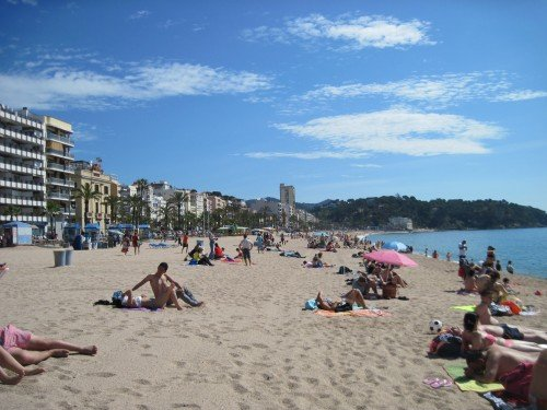Lloret de Mar beach: so peaceful...