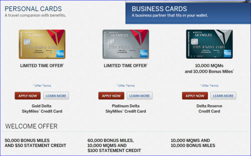 Miles Points Credit Cards Offers 6/14-6/21: AMEX Delta 50K-60K