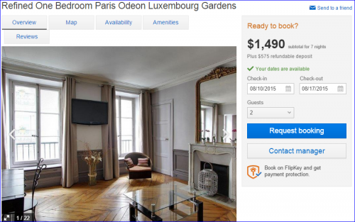 Paris Apartment FlipKey -- 1Bedroom Upscale
