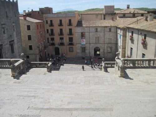 Girona, Costa Brava, Spain: Old Town: View from the Cathedral