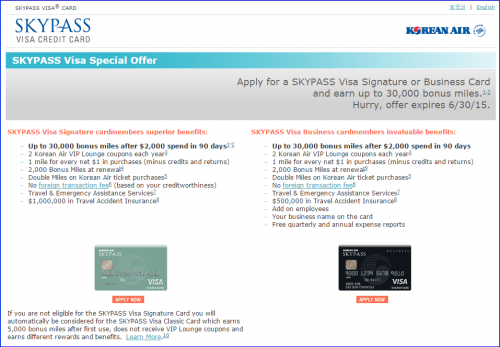 Miles Points Credit Cards Offers 6/14-6/21: US Bank 30K Korean Air