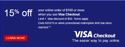 Miles Points Credit Cards Offers 6/14-6/21: Visa Checkout at Staples $15 off $100