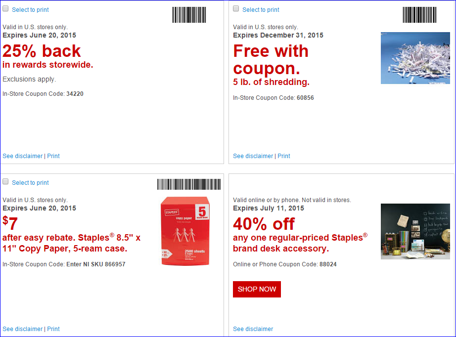 Staples rewards coupons