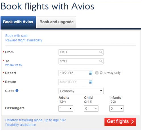 Avios Glitch Get Flights