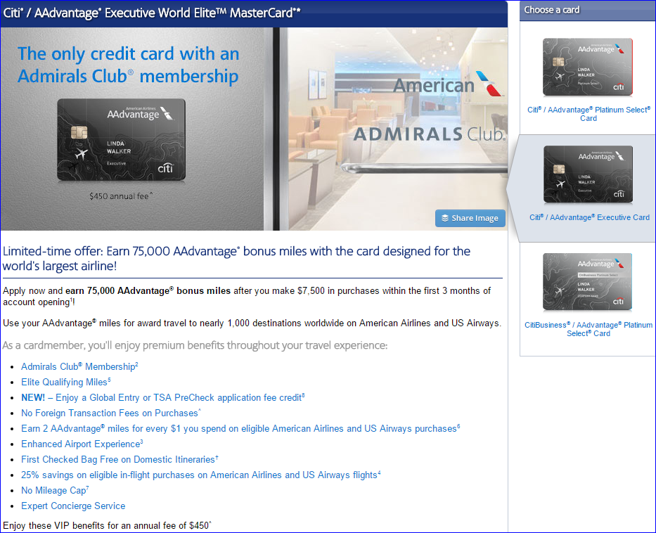 Citi Aadvantage Executive 75000 Point Bonus Is Back