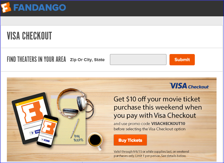 Fandango discount coupons