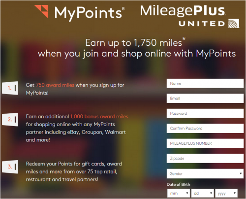 Miles Points Credit Cards:  Free 750 United Miles