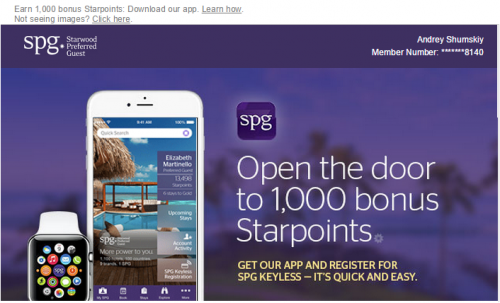Miles Points Credit Cards: 1000 Free SPG Points