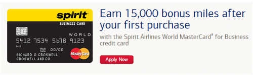 Deals, Miles, Points, and Credit Cards: Spirit Airlines Credit Business Card