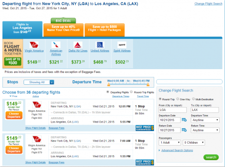 LGA-lax for $149 Roundtrip