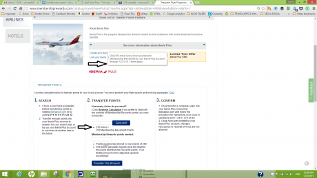AMEX Transfer Iberia