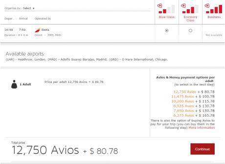 Iberia Plus SPecial ORD-MAD Coach