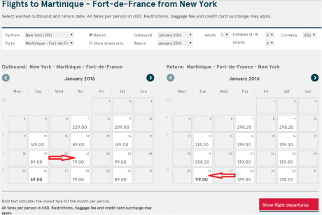 1 NYC - Fort De France Table