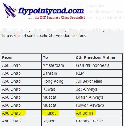 Fifth Freedom flights: Still valid for Abu Dhabi -Phuket?
