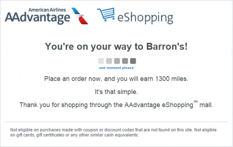 1,300 American AAdvantage Miles for $1