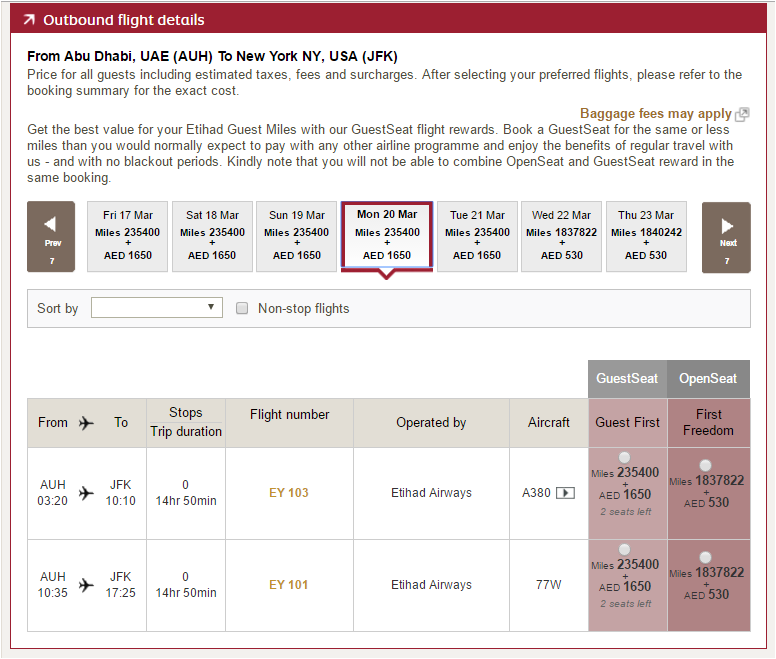 Ana awards booking etihad apartment routing rules and for Etihad apartment plans