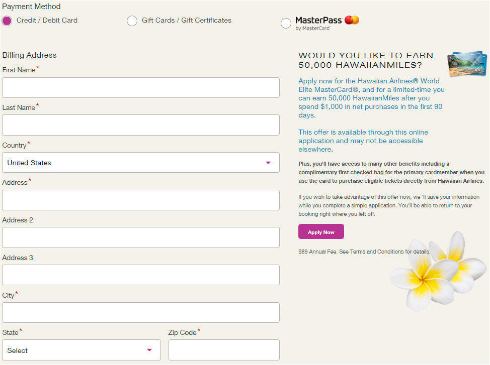 New Hawaiian Airlines 50000 Miles Credit Card Offer and Other ...