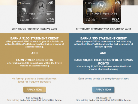 Travel Credit Card Offers HHonor Reserve Better 2