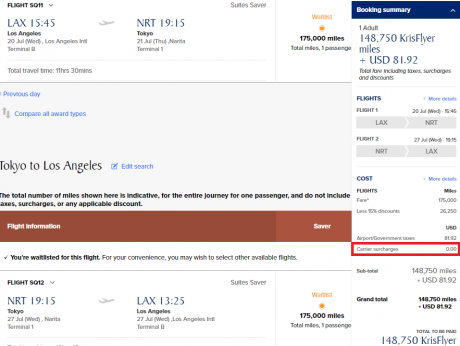 Gaming Singapore Suites Routes SIN LAX-NRT FIXED