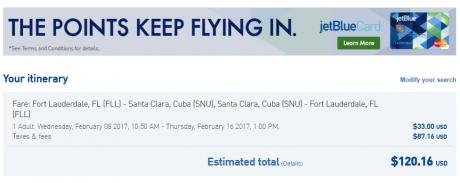 Flights to Cuba b6-fll-snu-120