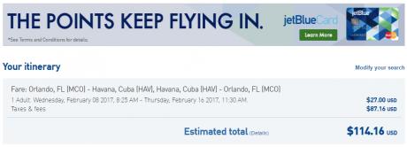 Flights to Cuba b6-mco-hav-114