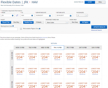Flights to Cuba delta-jfk-hav-cash