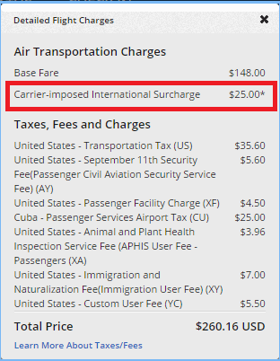 Delta Fuel Surcharge dl-jfk-hav-taxes-corrected