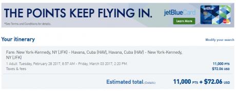 JetBlue Cuba Travel JFK-HAV TruBlue