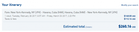 JetBlue Cuba Travel -- When Cash Is Better