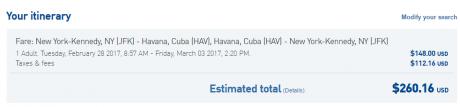 JetBlue Cuba Travel -- When Cash Is Better