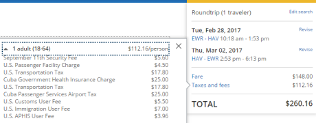 Delta Fuel Surcharge ua-ewr-hav-148-and-112-taxes